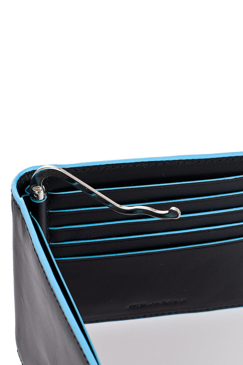 nuovo arrivo 576eb 927ef BLUE SQUARE Portafoglio con Molla per Banconote Nero ...