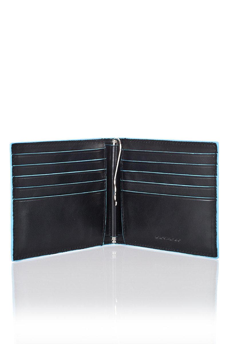 42700215af BLUE SQUARE Portafoglio con Molla per Banconote Nero Piquadro uomo ...