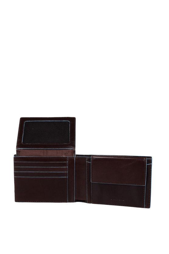 BLUE SQUARE Portafoglio con porta Documenti Marrone