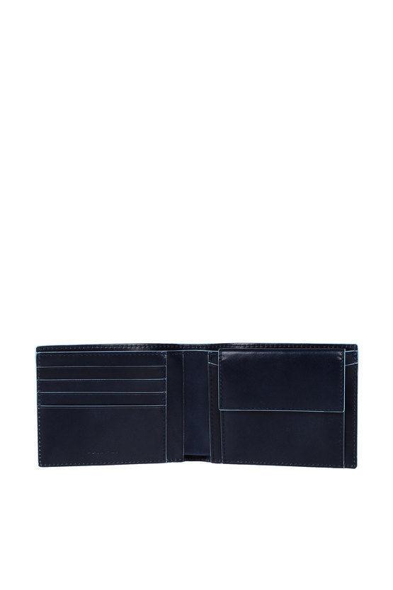 BLUE SQUARE Portafoglio con Portamonete Blu