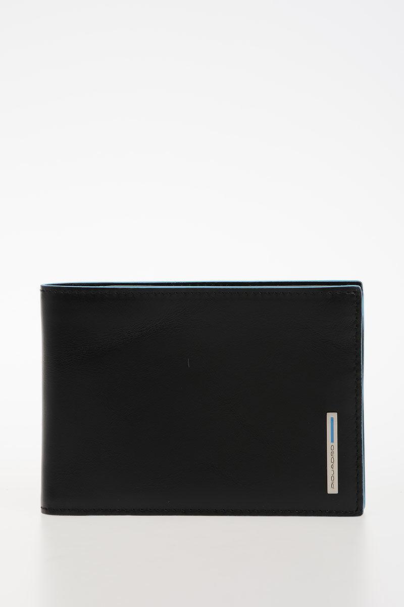 660a4ddd93 BLUE SQUARE Portafoglio Nero Piquadro uomo - Cuoieria Shop On-line