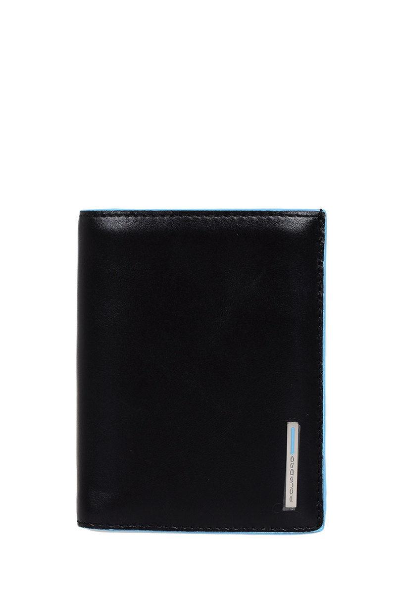 afd838f812 BLUE SQUARE Portafoglio verticale con Portamonete Nero Piquadro uomo ...