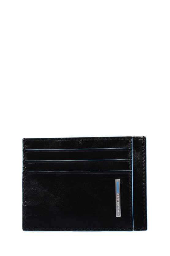 BLUE SQUARE Pouch with Credit Card Holder Black