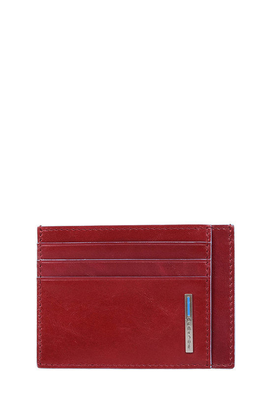BLUE SQUARE Pouch with Credit Card Holder Red