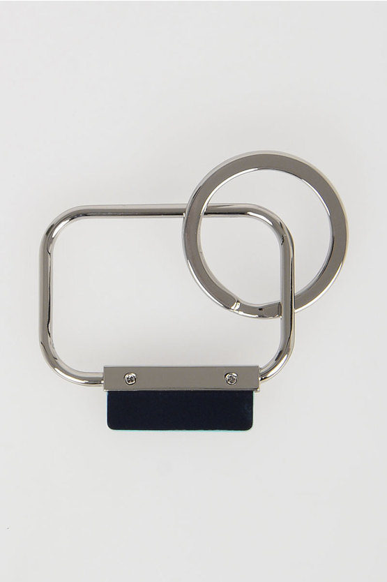BLUE SQUARE Rectangular Keychain Blue