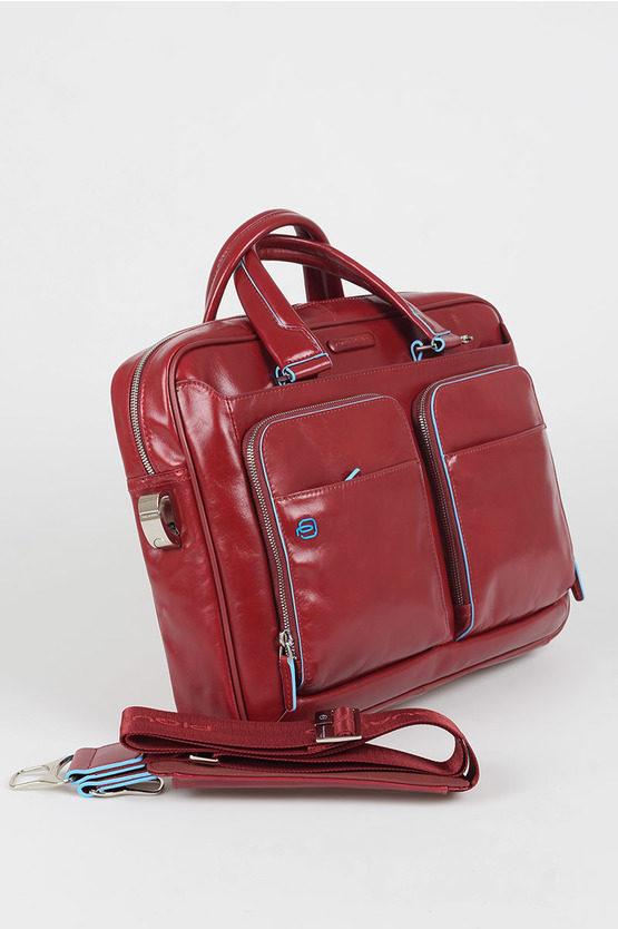 BLUE SQUARE Slim Laptop Briefcase Red