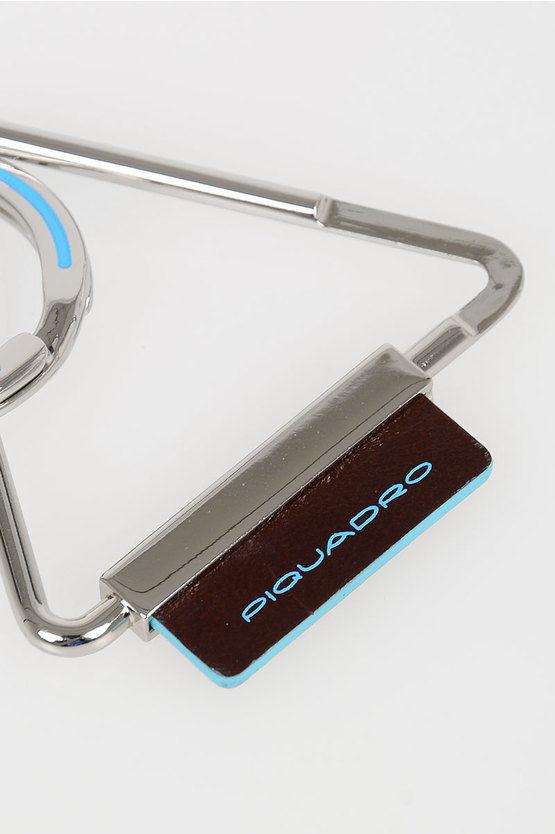 BLUE SQUARE Triangle Keychain Mahogany