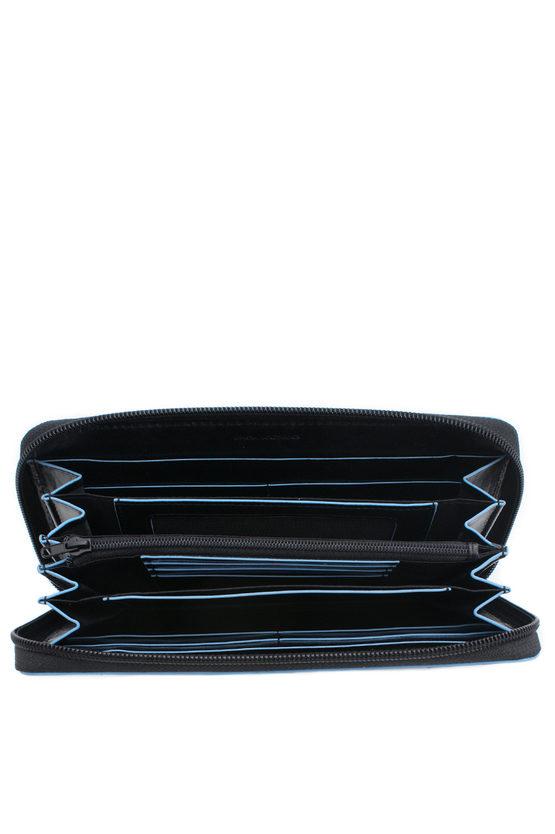 BLUE SQUARE Wallet 4 Gussets Black