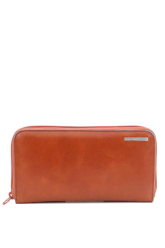 BLUE SQUARE Wallet 4 Gussets Orange