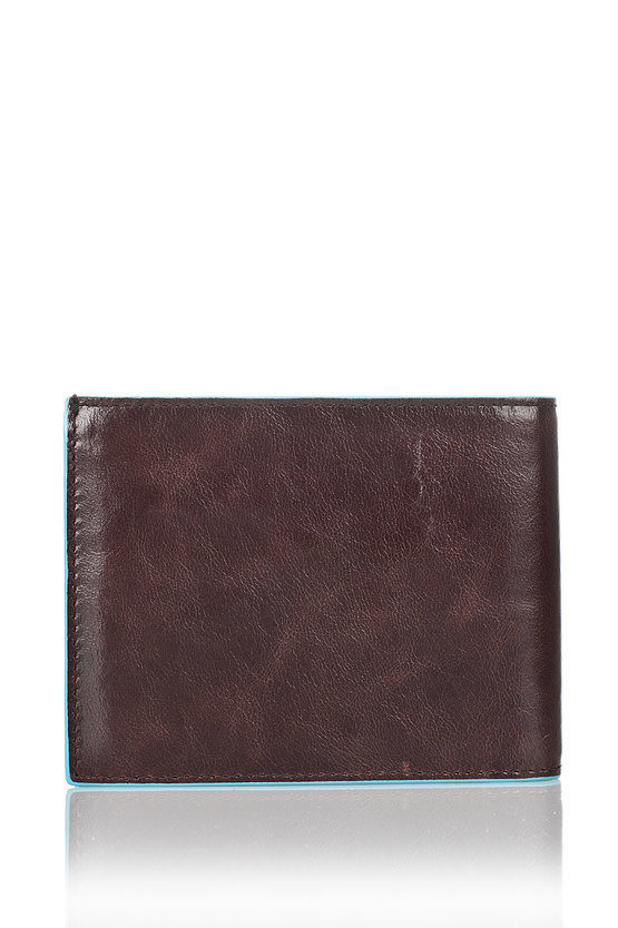 BLUE SQUARE Wallet Mahogany