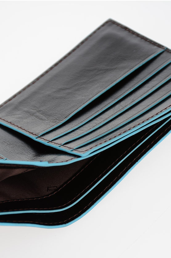 BLUE SQUARE Wallet Mahogany