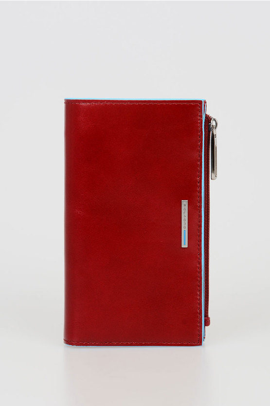 BLUE SQUARE Wallet Red