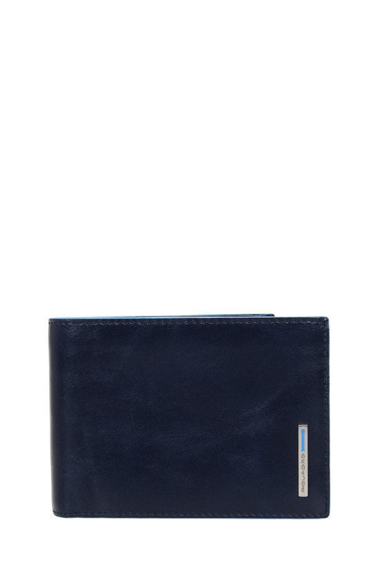 BLUE SQUARE Wallet with Business Card Holder Blue