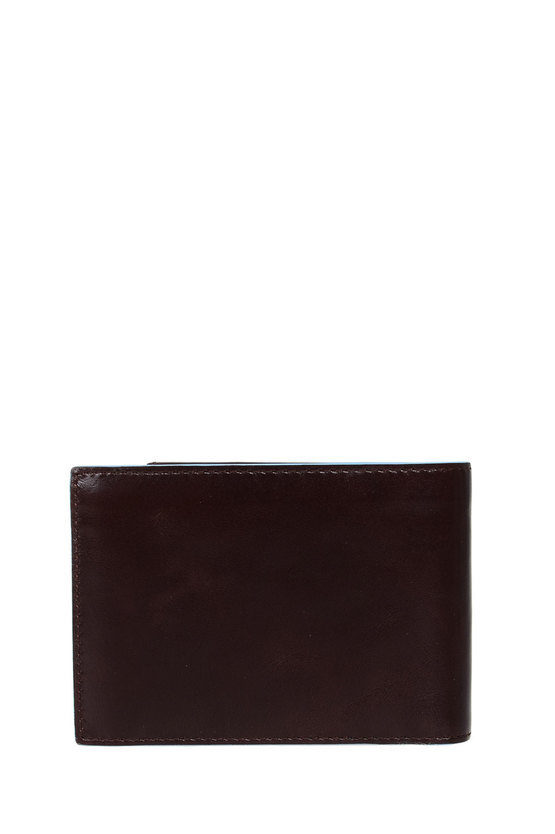 BLUE SQUARE Wallet with Business Card Holder Brown