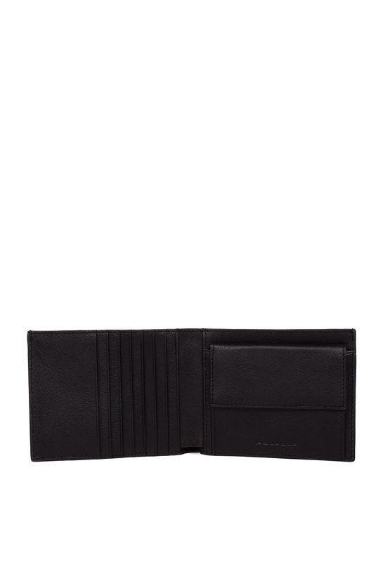 BLUE SQUARE Wallet with Business Card Holder Dark Brown