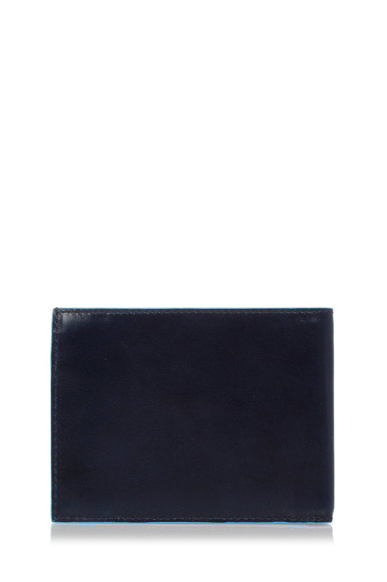 BLUE SQUARE Wallet with Coin Case and Credit Card Slots Blue