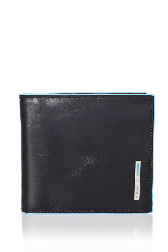 BLUE SQUARE Wallet with Spring for Money Black