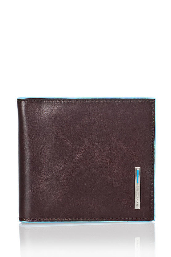 BLUE SQUARE Wallet with Spring for Money Brown