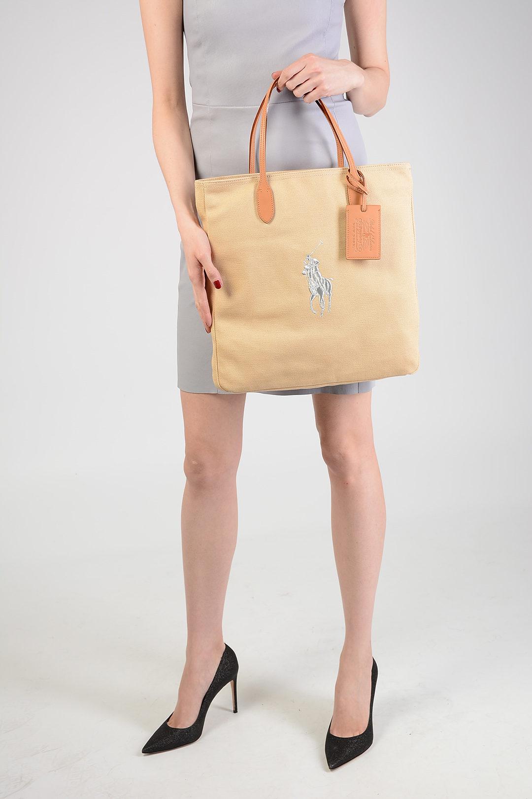 bf1da11d4f922 Borsa in Canvas Ralph Lauren donna - Cuoieria Shop On-line