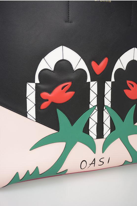 Borsa Shopper TRAVEL IN LOVE in Pelle