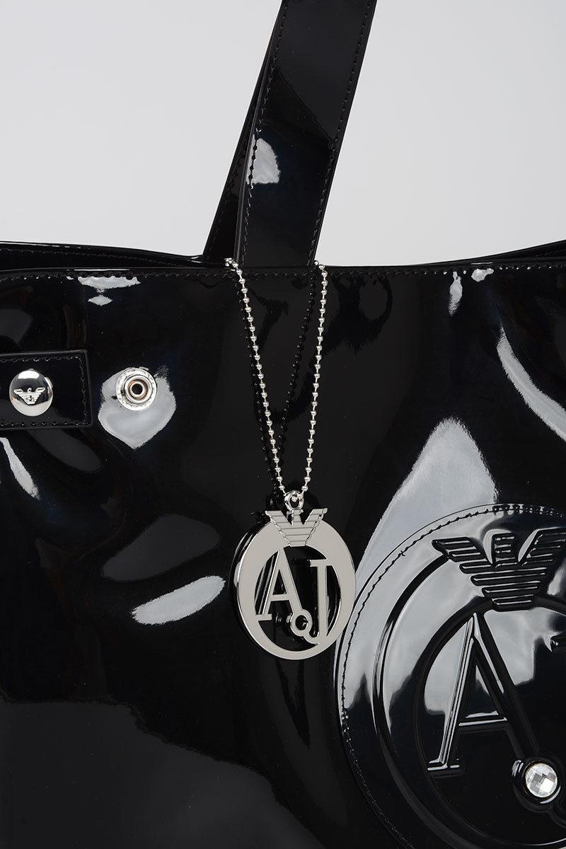 Borsa Shopping con Ciondolo Armani donna Cuoieria Shop On line