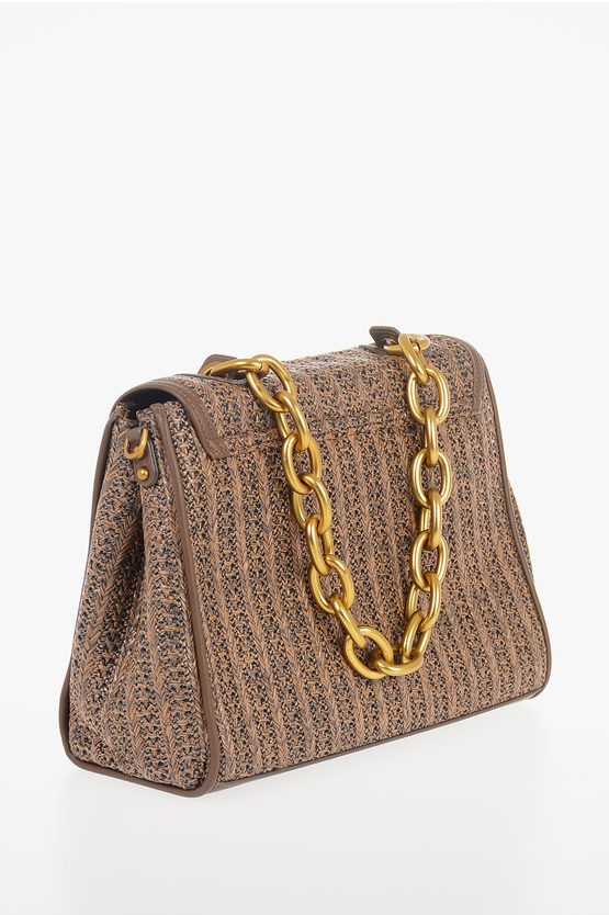 Borsa SMALL FLAP GLORIA in Ecopelle Intrecciata