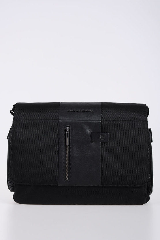 BRIEF Cartella Messenger porta PC/iPad Nero