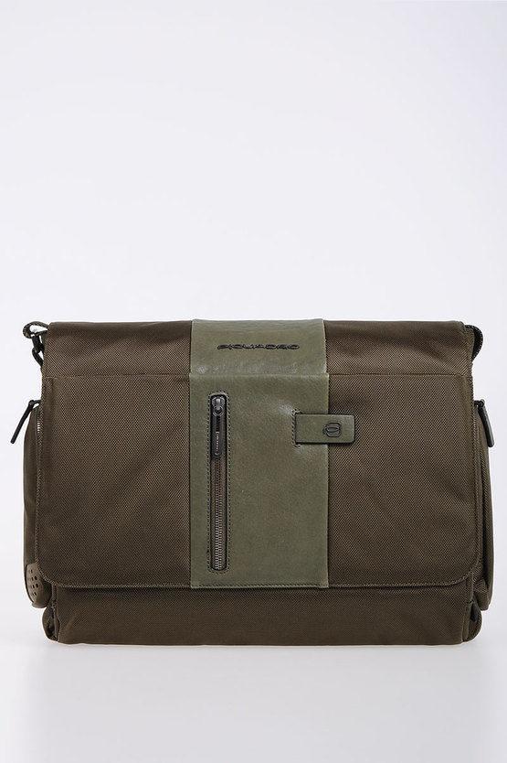 BRIEF Cartella Messenger porta PC/iPad Verde