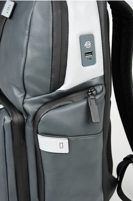 BRIEF Leather Backpack for Ipad Dark Grey