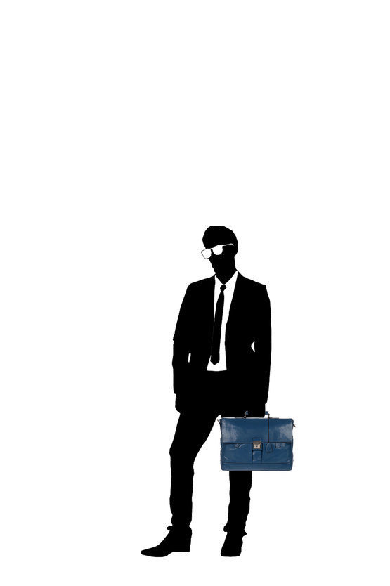 Cartella Business Patch Luxe Porta PC Blu