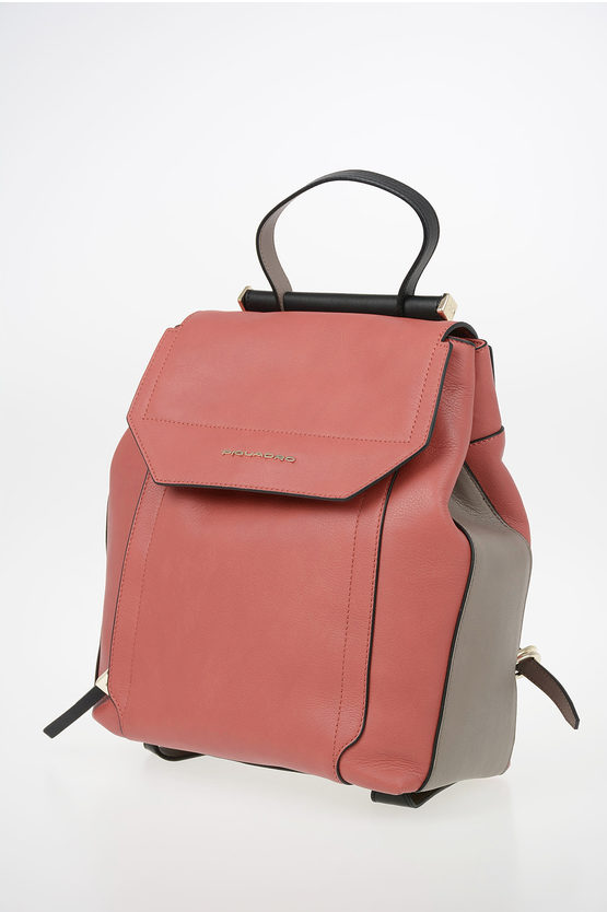 CIRCLE Leather expandable backpack for Ipad Brown