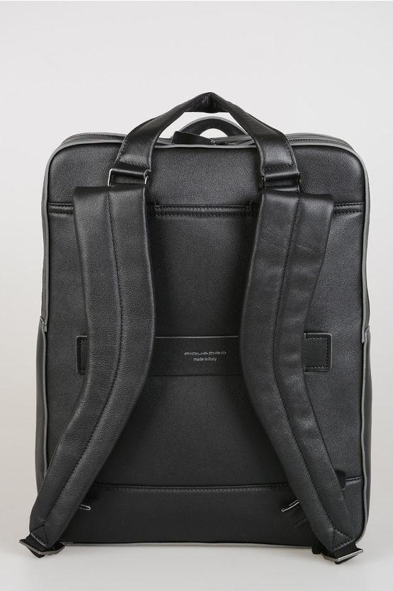 "DAVID 15,6"" notebook Leather Backpack Black"