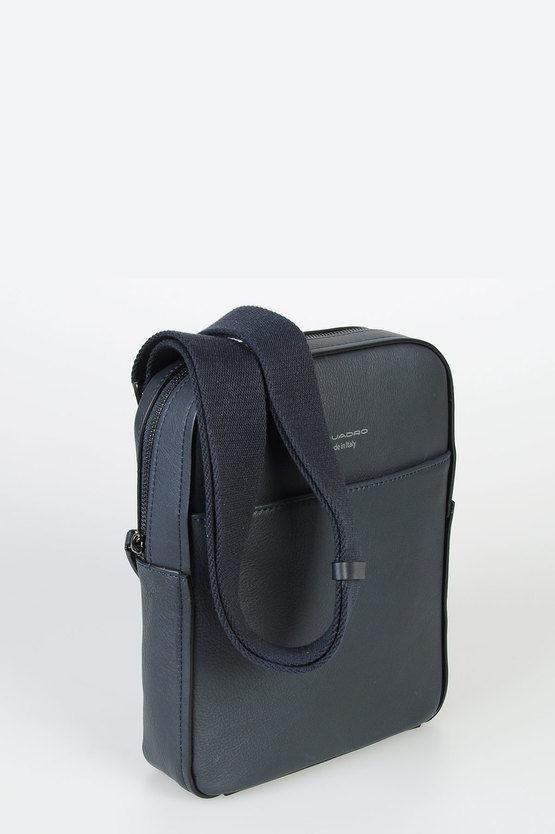 DAVID Organised Ppocket Cross-body Bag Blue