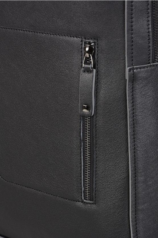 """DAVID Zaino in Pelle Borse 15,6"""" notebook Nero"""