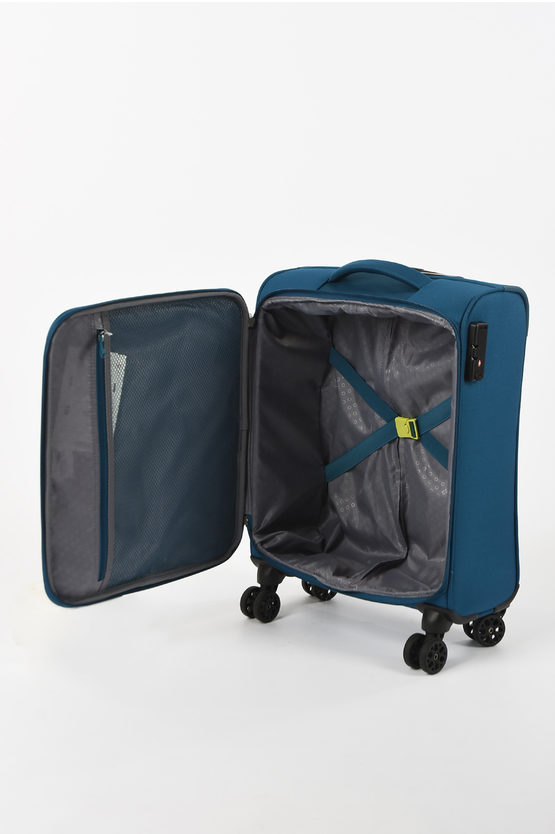 DEEP DIVE Cabin Trolley 55cm 4W Teal/Lime