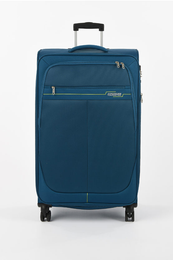 DEEP DIVE Large Trolley 78cm 4W Expandable Teal/Lime