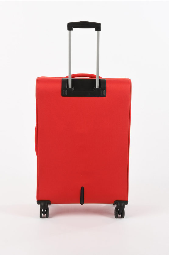 DEEP DIVE Medium Trolley 67cm 4W Expandable Red/Grey