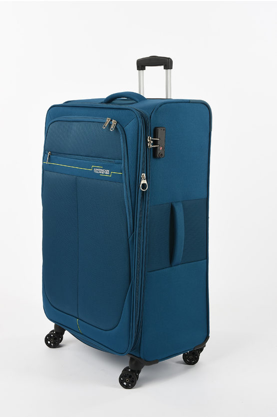DEEP DIVE Set 3 Trolley 4W Expandable Teal/lime