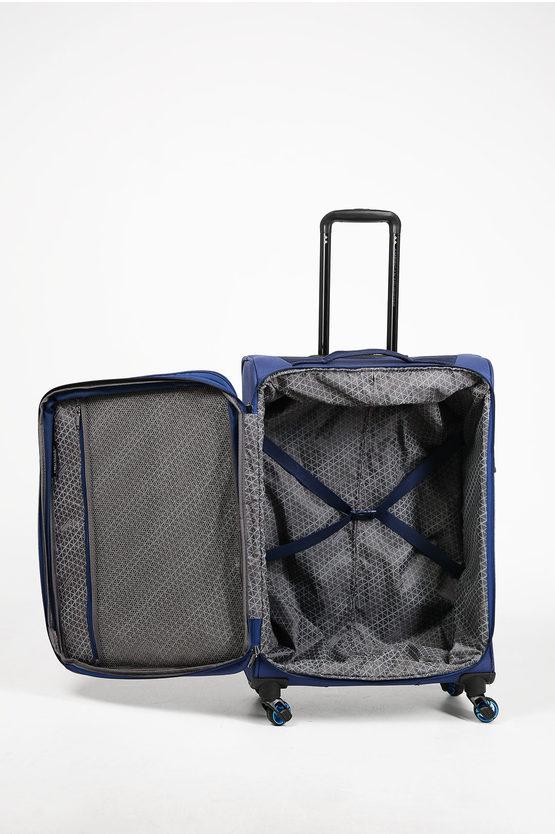 ECO WANDERER Trolley Medio 67cm 4R Espandibile Blu
