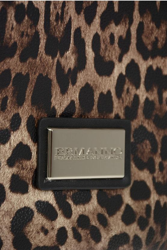 ERMANNO Faux Leather Leopard Printed GRETA Bag