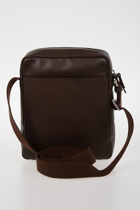 ERSE Pocket Crossbody Bag for iPad mini Dark Brown
