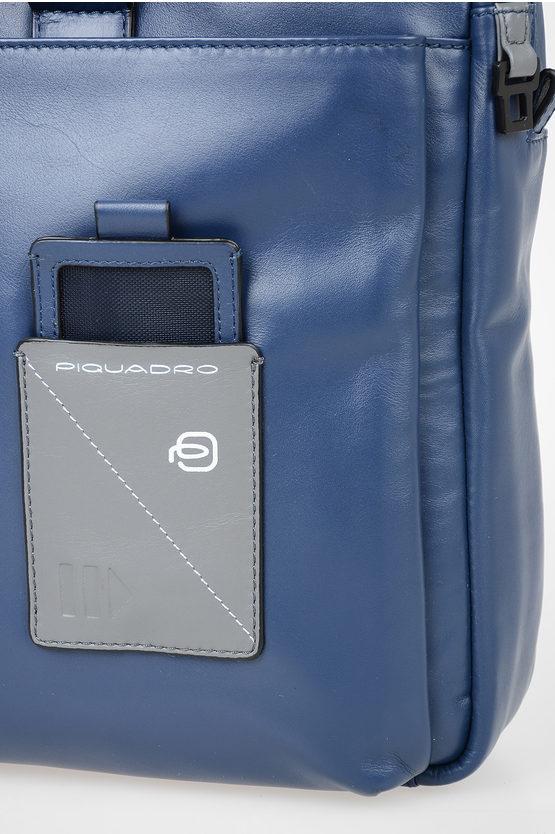 EXPLORER Cartella Business Porta Documenti e Pc in Pelle Blu