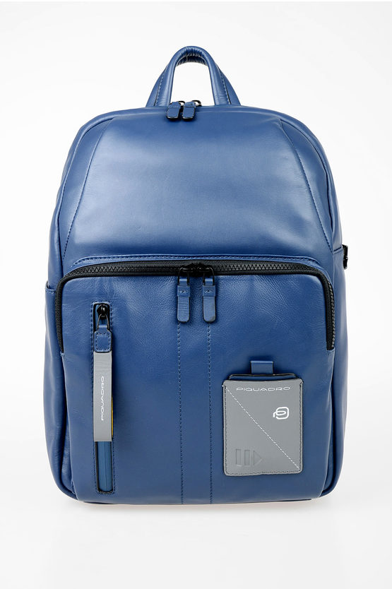 EXPLORER Leather Backpack for Ipad Blue