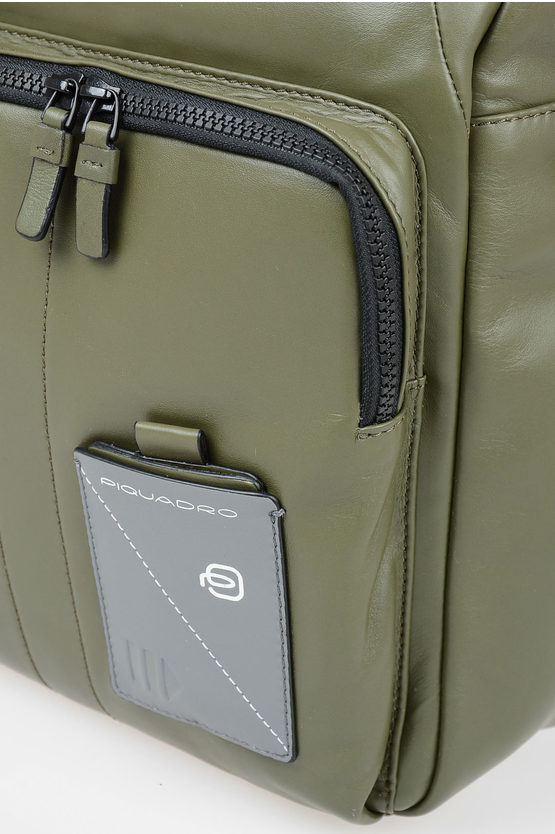 EXPLORER Leather Backpack for Ipad Green