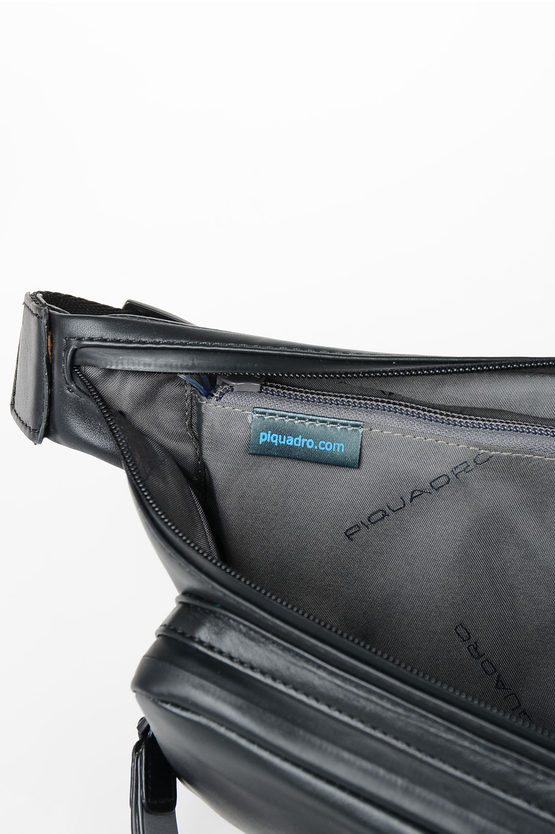 EXPLORER Leather Bum Bag Black