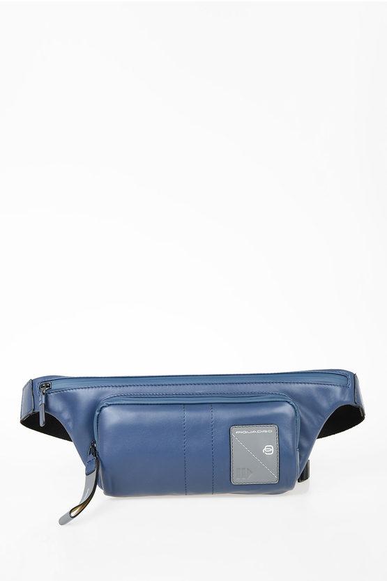 EXPLORER Leather Bumbag Blue