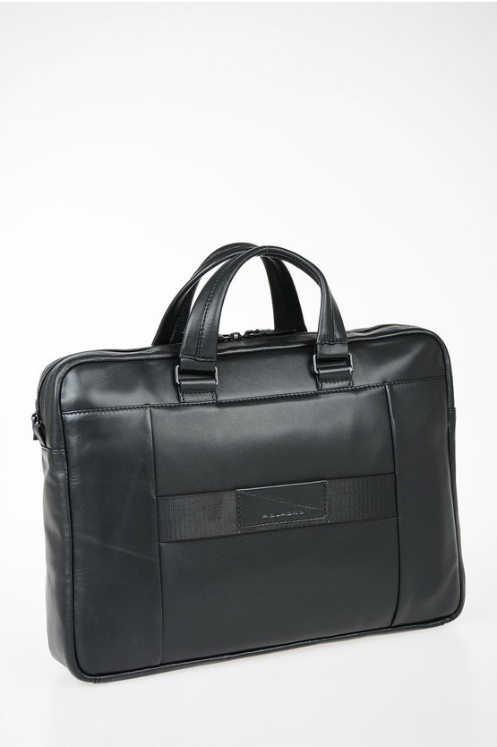 EXPLORER Leather Business Briefcase Black