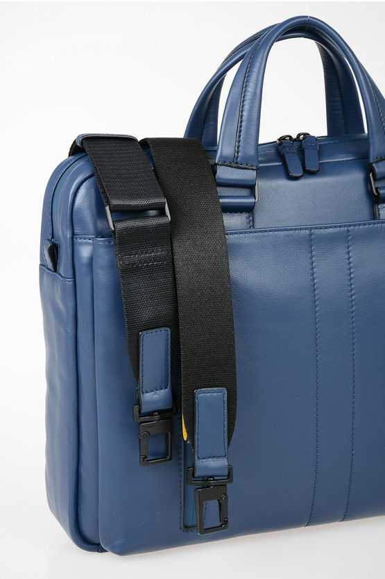 EXPLORER Leather Business Briefcase Blue