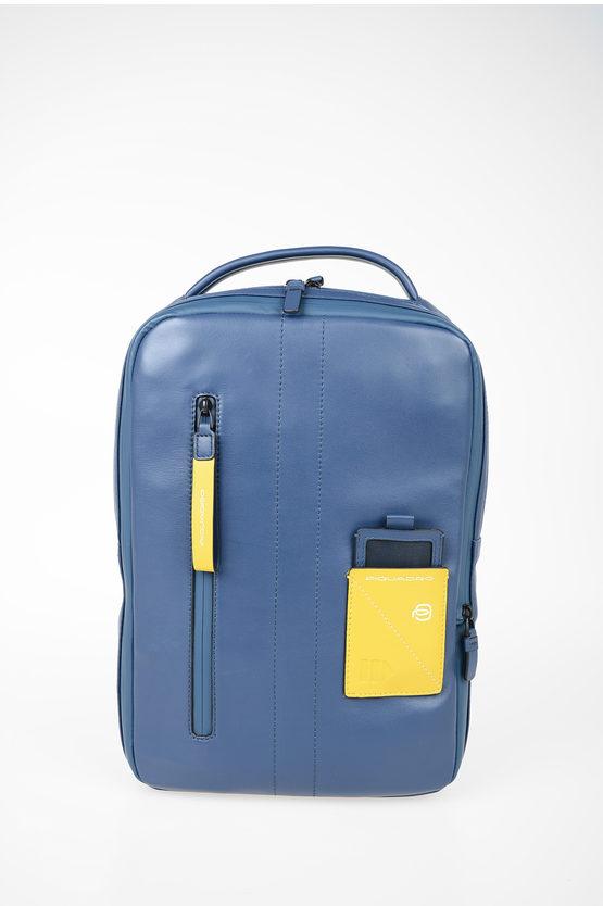 EXPLORER Leather Expandable  computer iPad® Backpack Blue