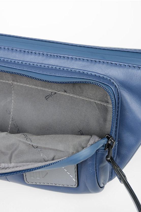 EXPLORER Marsupio in Pelle Blu